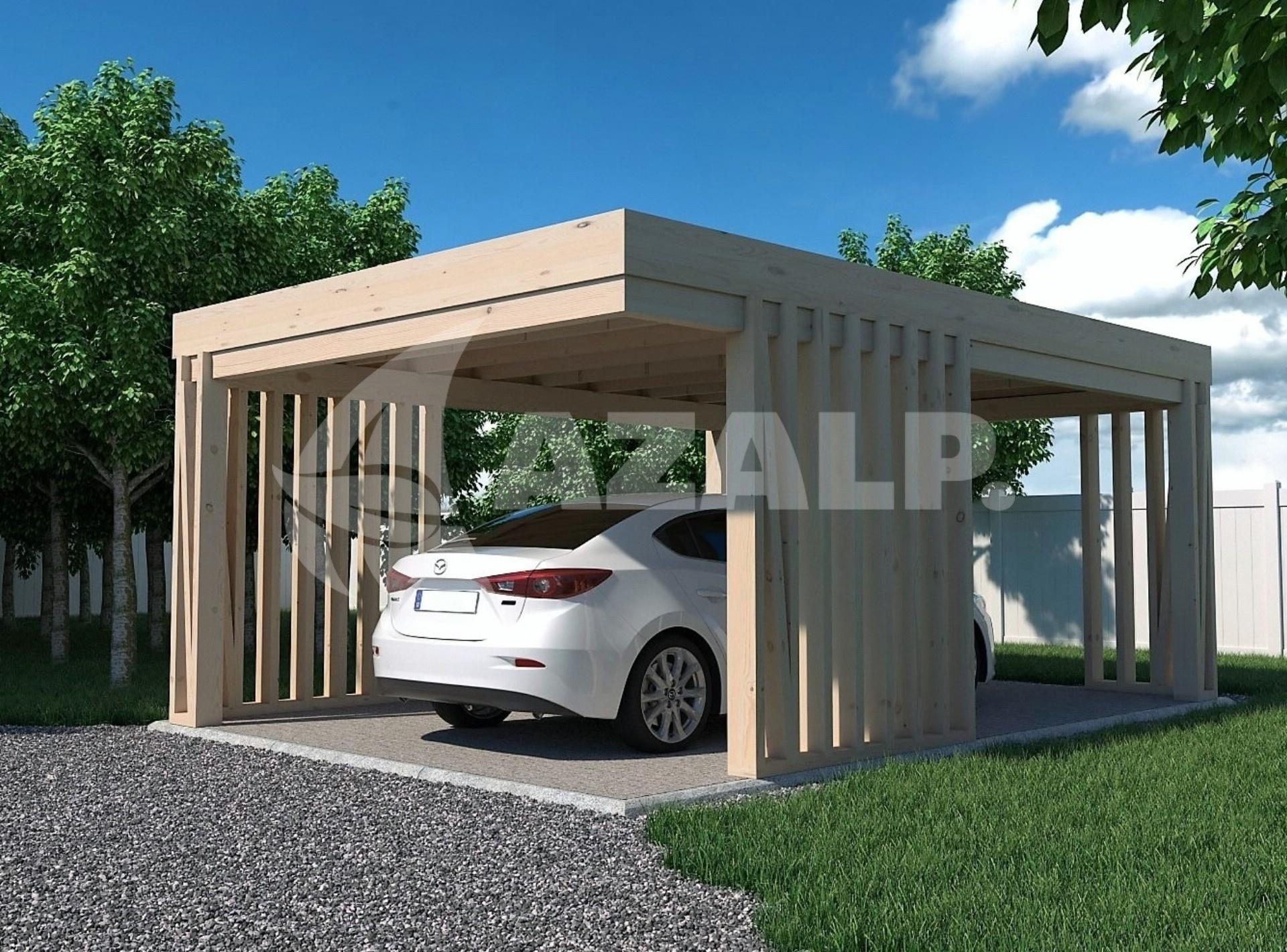 azalp carport pinchos 450x550 cm kaufen bei. Black Bedroom Furniture Sets. Home Design Ideas