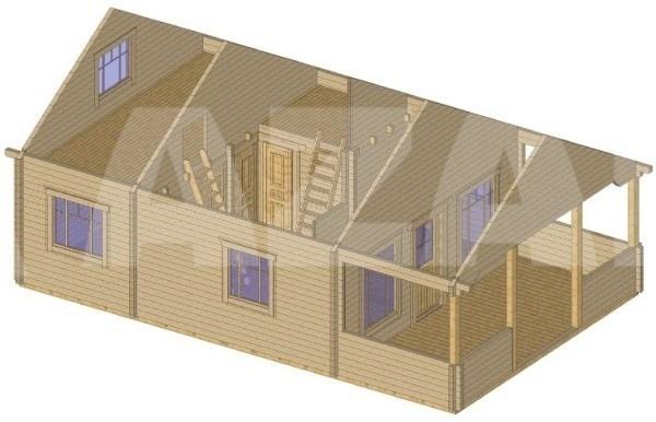 azalp ferienhaus d nemark 95 mm kaufen bei. Black Bedroom Furniture Sets. Home Design Ideas