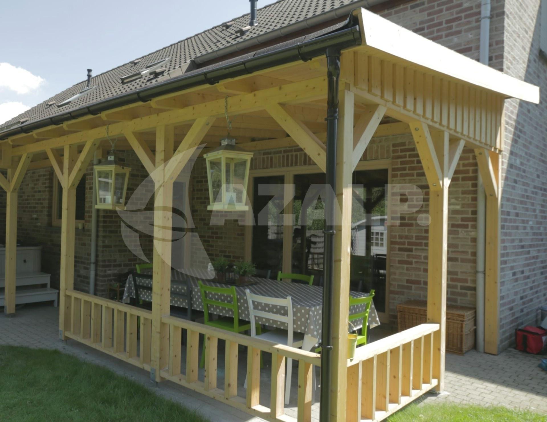 Azalp Terrassenuberdachung Holz 400x350 Cm Kaufen Bei Azalp De