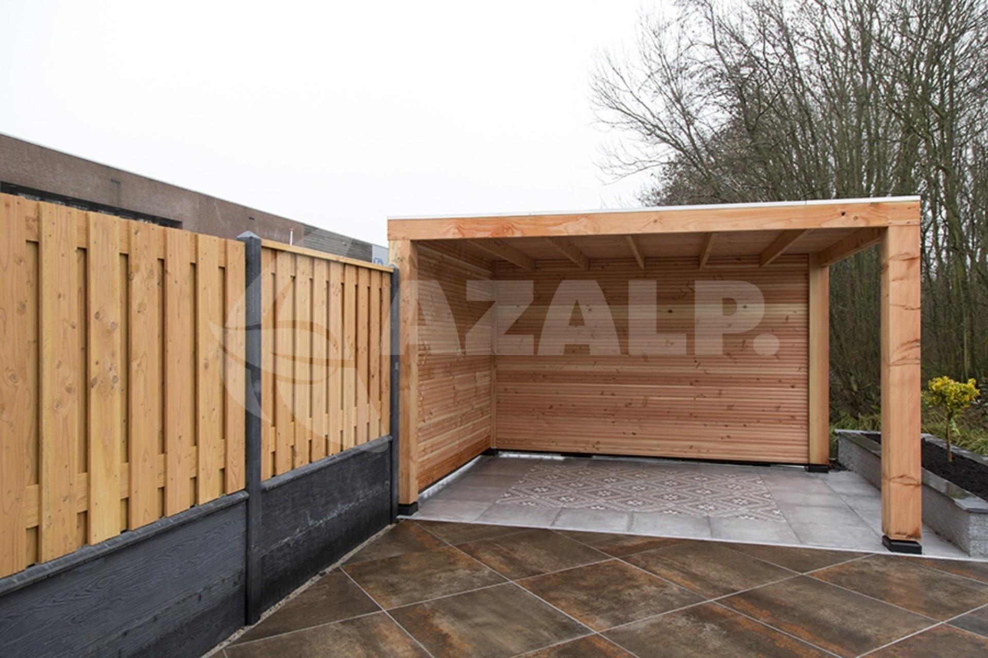 Garage Met Overkapping : Carpgarant overkapping douglas excellent 300x300 cm 135152 kopen