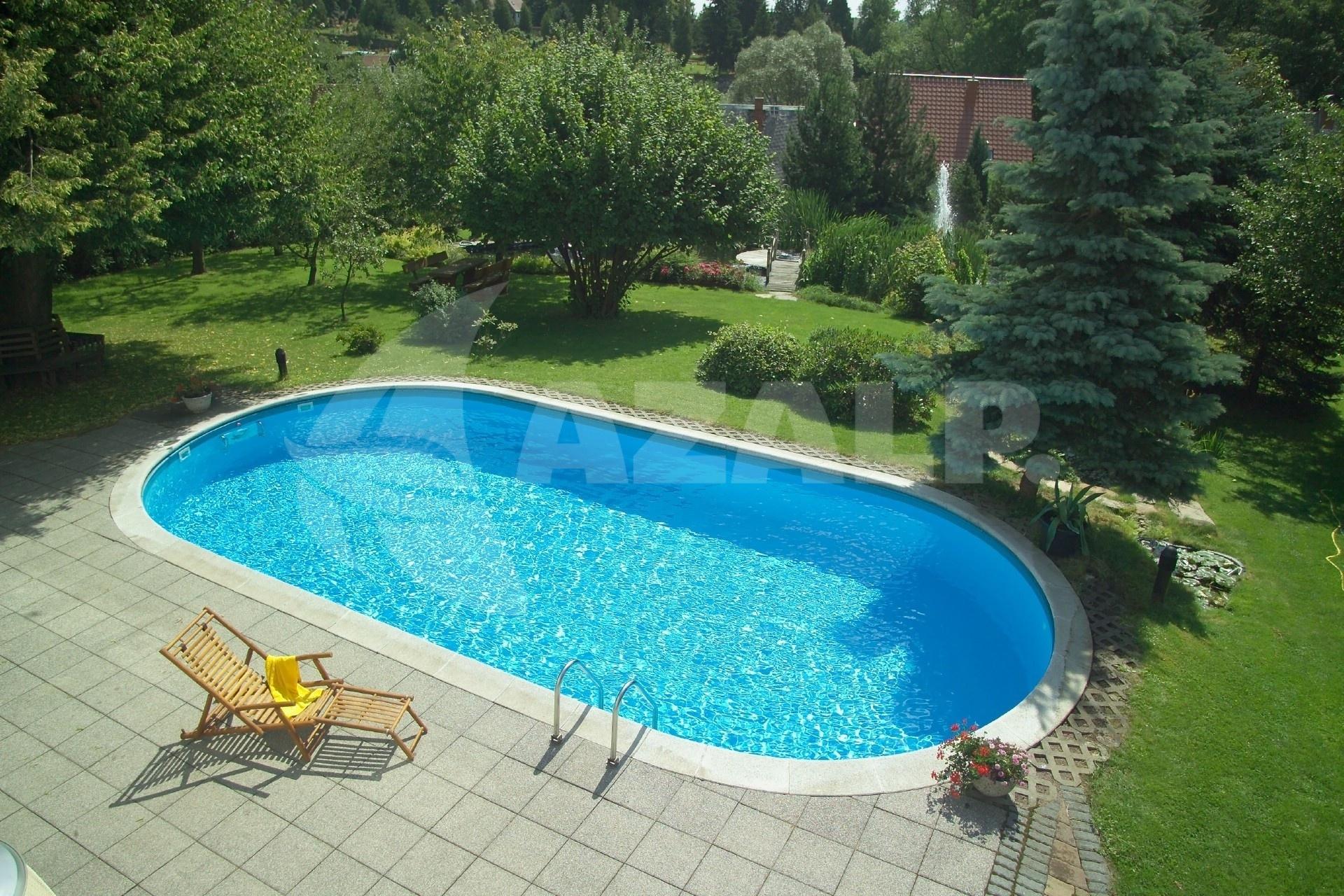 Trendpool tahiti 530 x 320 x 120 cm liner 0 8 mm starter for Pool innenfolie