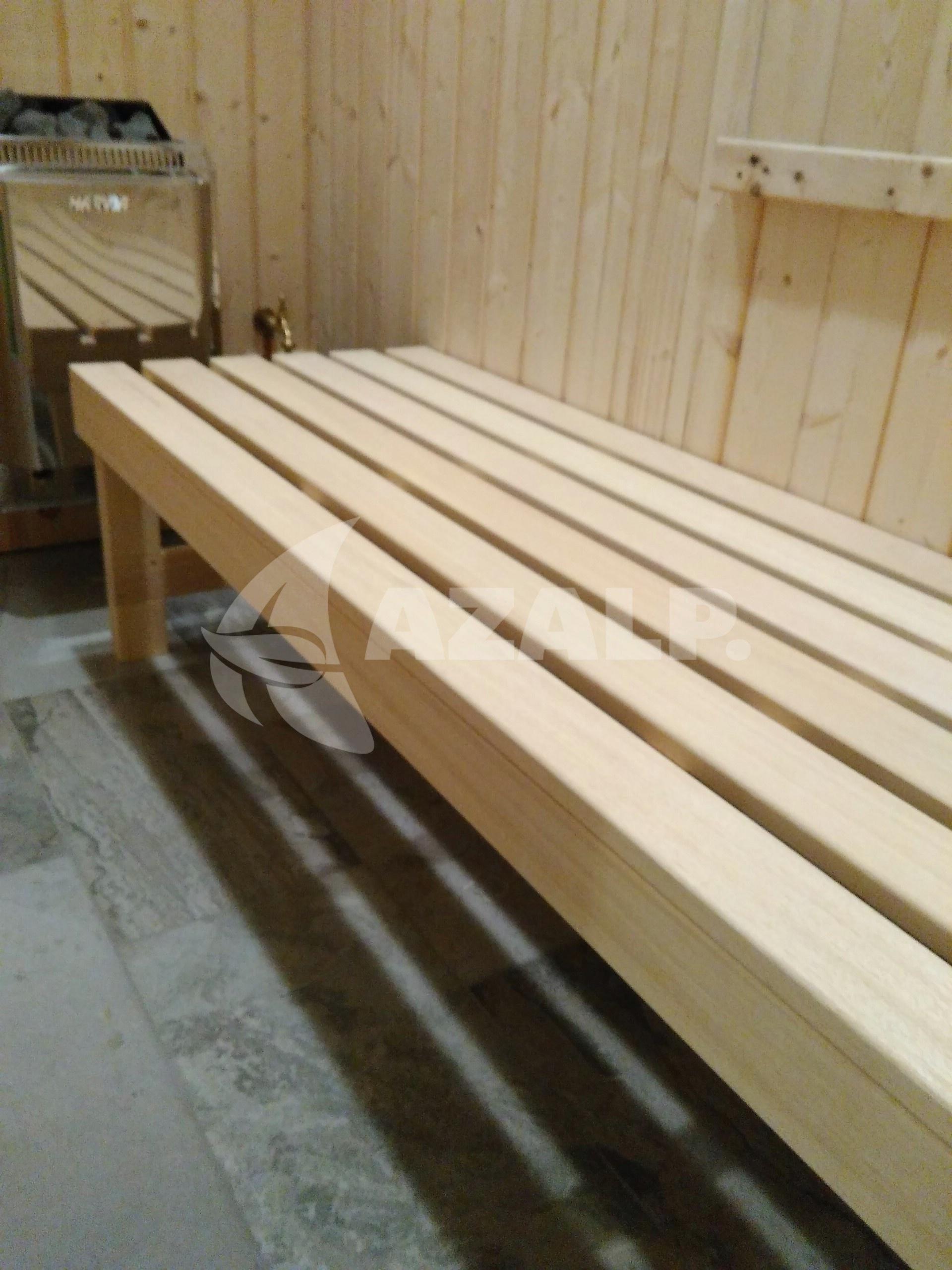 Azalp Saunabank freistehend, Abachi 50 cm breit Kaufen bei Azalp.de