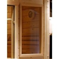 Foto van Azalp Saunaraam massieve sauna Genio 41x76 cm