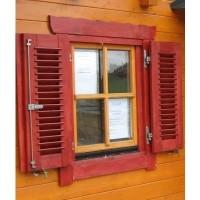 Foto van Azalp Luikenset raam 80x94 cm, lamellen