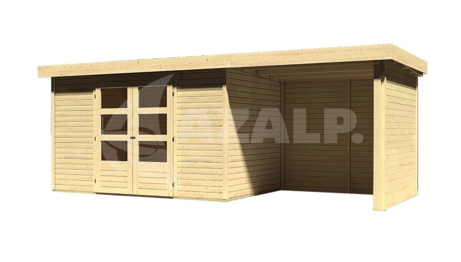 Garage Met Veranda : Woodfeeling askola met veranda kopen bij azalp