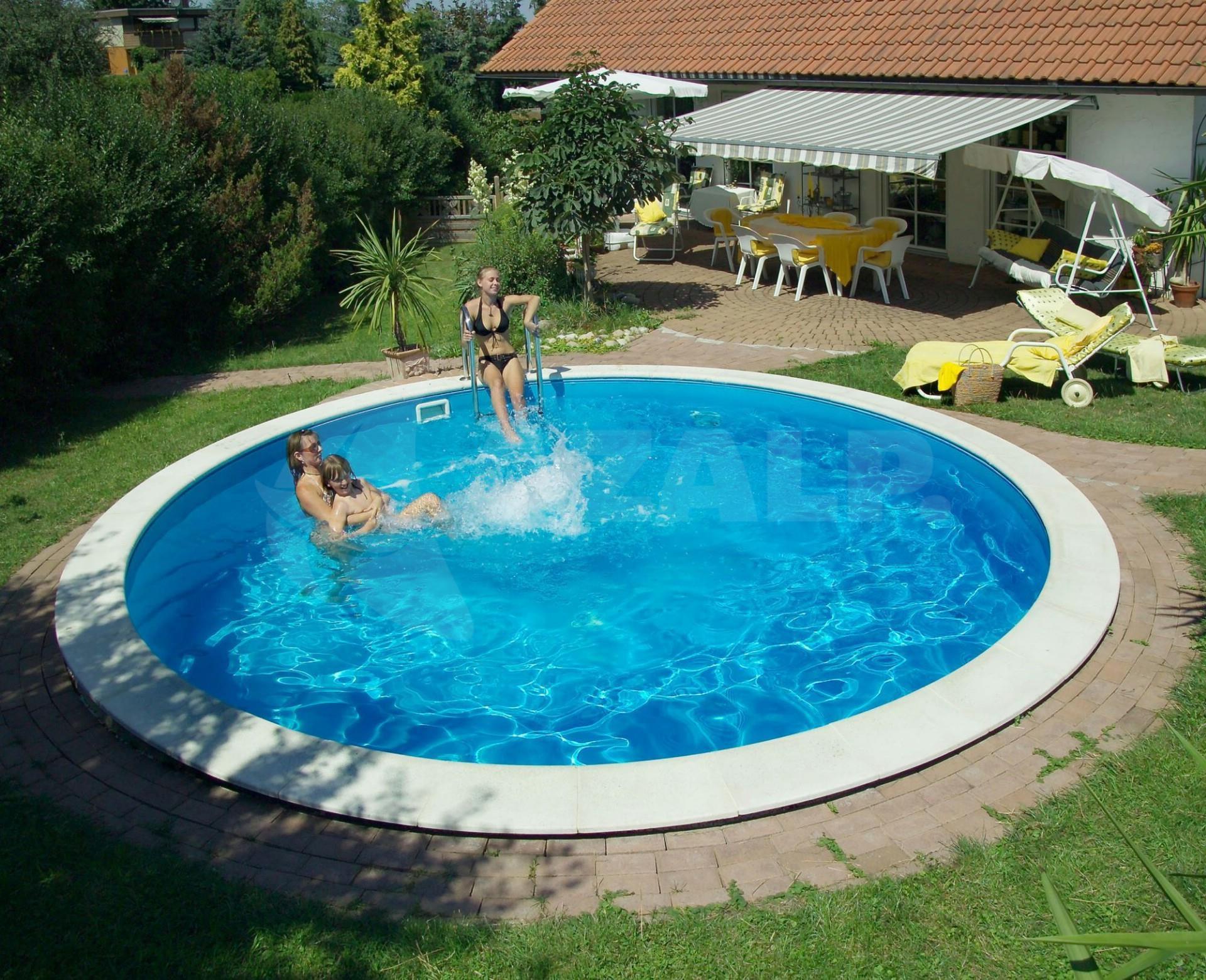 Trend pool ibiza 450 x 120 cm innenfolie 0 8 mm starter for Gunstige poolsets