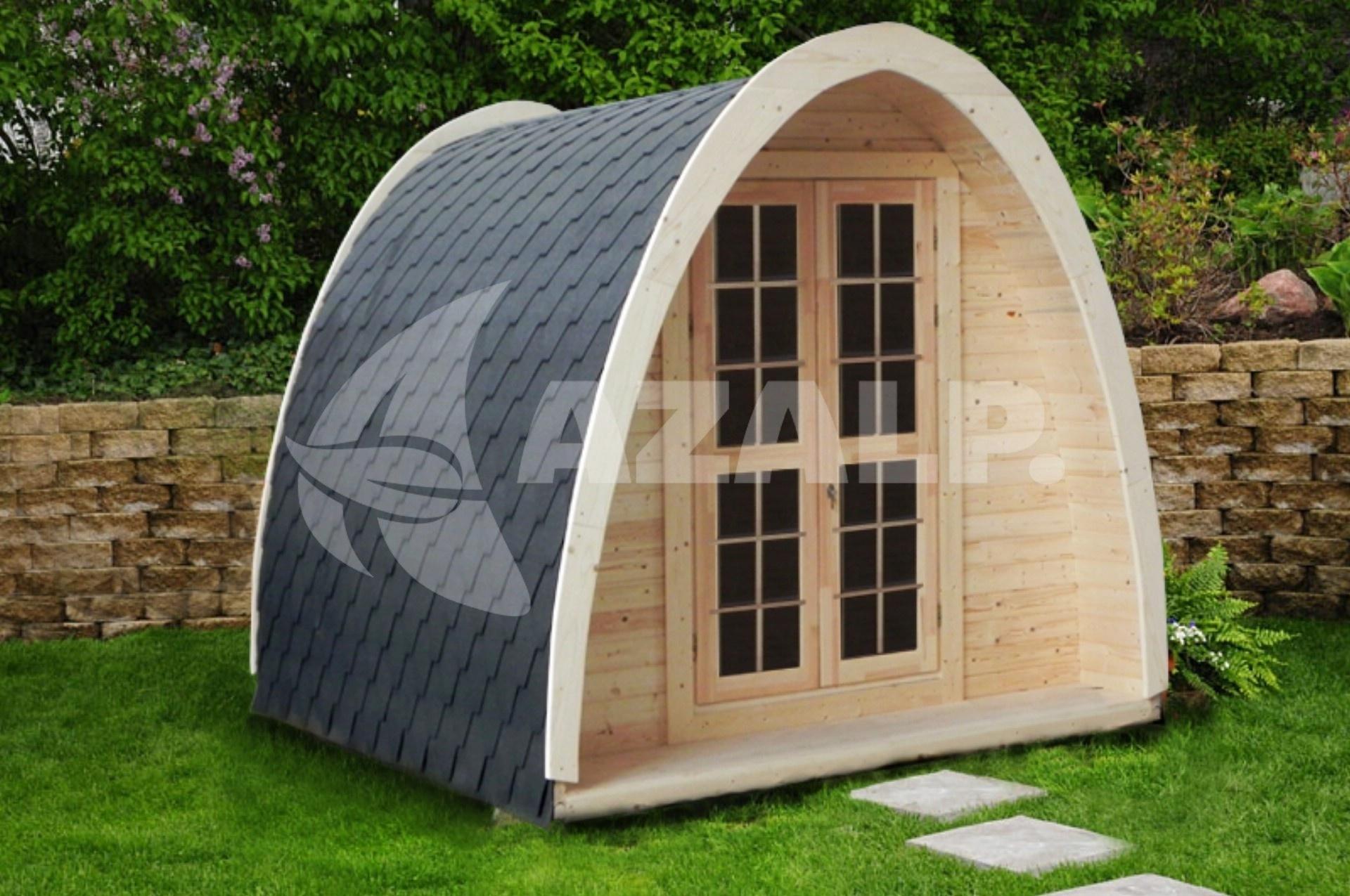 Interflex camping pod 4m kaufen bei for Gartengestaltung 400 m2