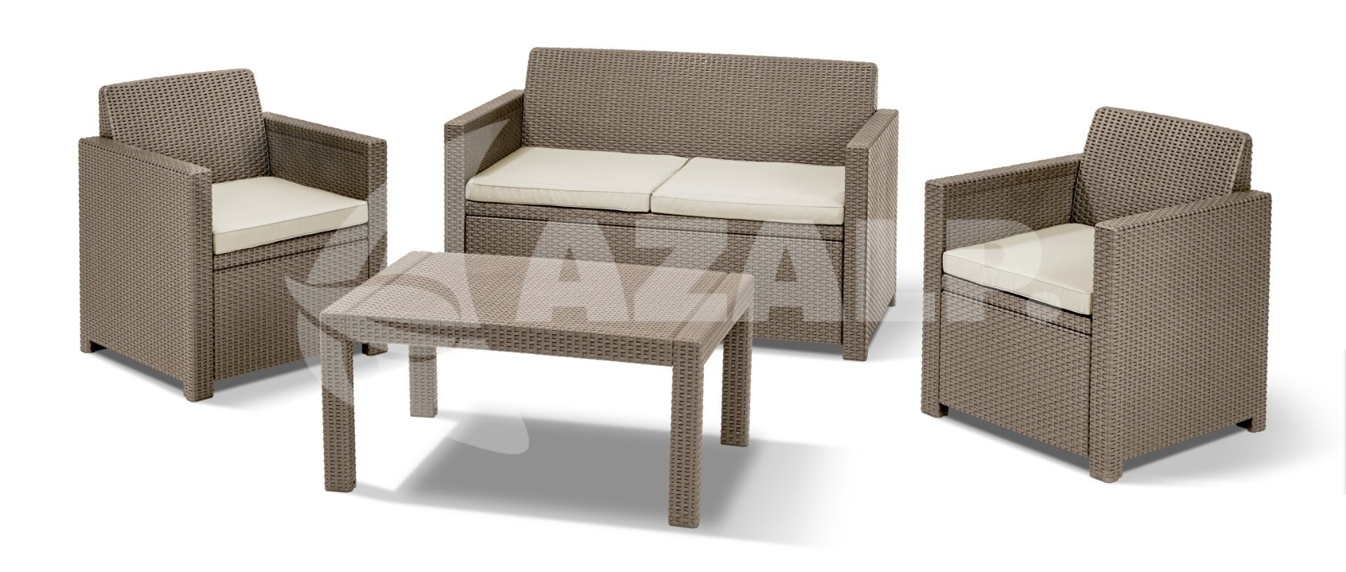 allibert merano lounge set cappucciono kopen bij. Black Bedroom Furniture Sets. Home Design Ideas