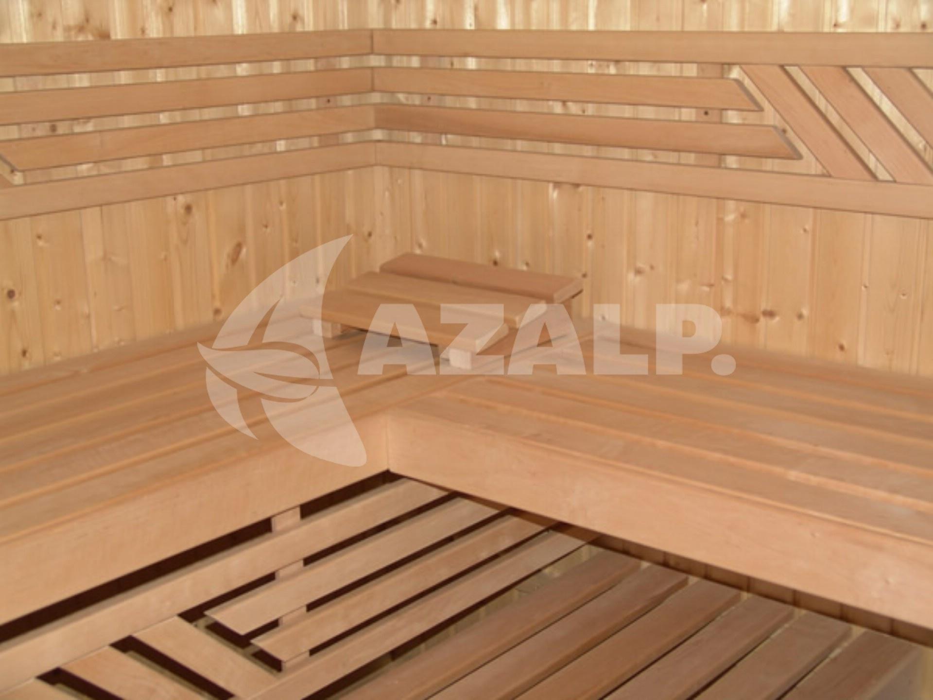 Azalp Saunabank gerade, Erle 50 cm breit Kaufen bei Azalp.de