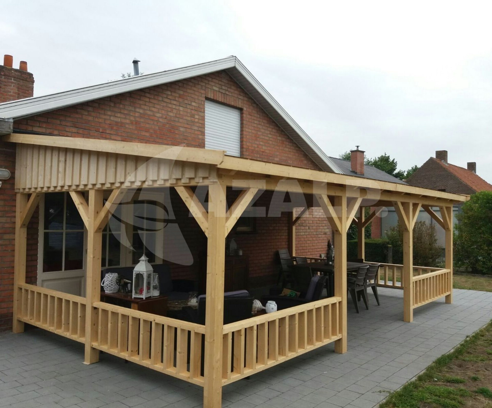 Azalp Terrassenuberdachung Holz 650x350 Cm Kaufen Bei Azalp De