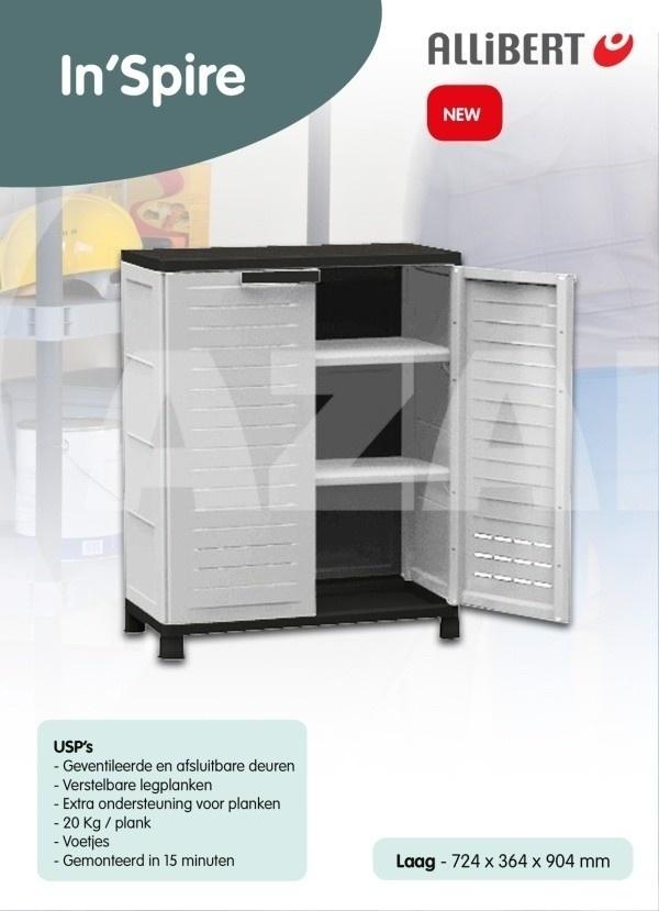 allibert aktenschrank airspire low kaufen bei. Black Bedroom Furniture Sets. Home Design Ideas