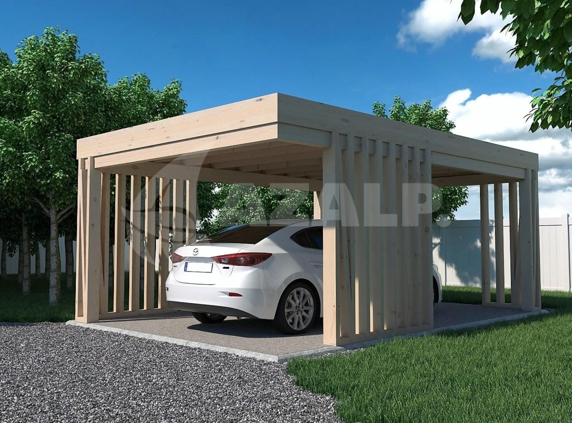 afbeelding 1 van azalp carport pinchos 400x500 cm