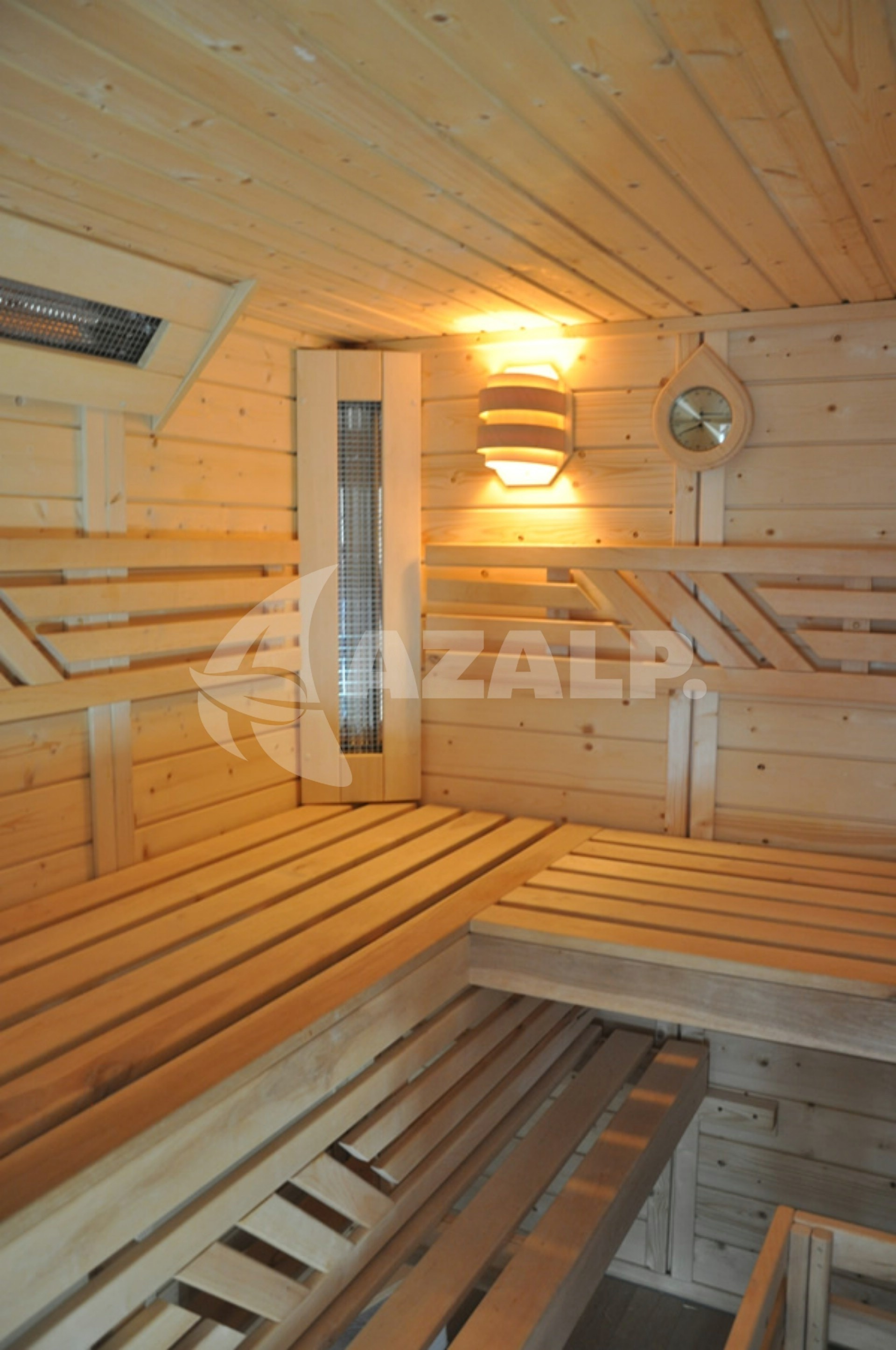 Azalp Saunabank gerade, Erle 60 cm breit Kaufen bei Azalp.de