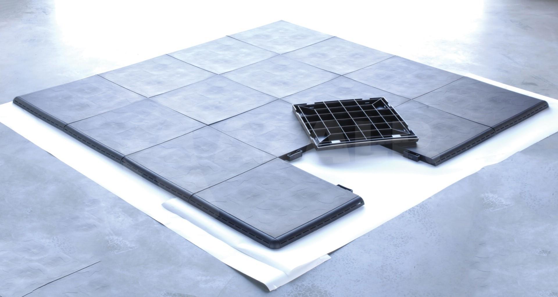 leisure concepts smartdeck mit trimkit 2 4 x 2 4 m kaufen bei. Black Bedroom Furniture Sets. Home Design Ideas