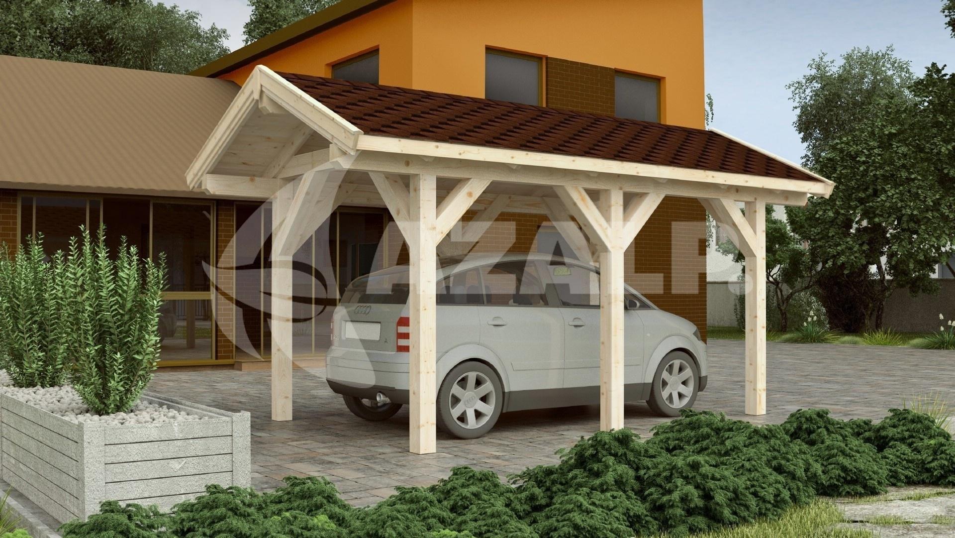 azalp carport klaus 544x638 cm kaufen bei. Black Bedroom Furniture Sets. Home Design Ideas