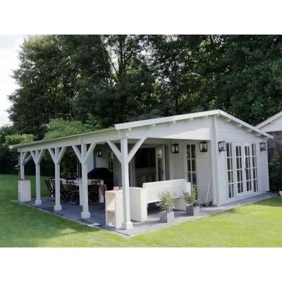 Foto von Azalp Blockhaus Ben 600x650 cm, 45 mm