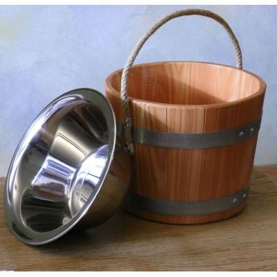 Foto van Blumenberg Emmer 5 liter lariks + RVS (401/06 ESVA 2L)