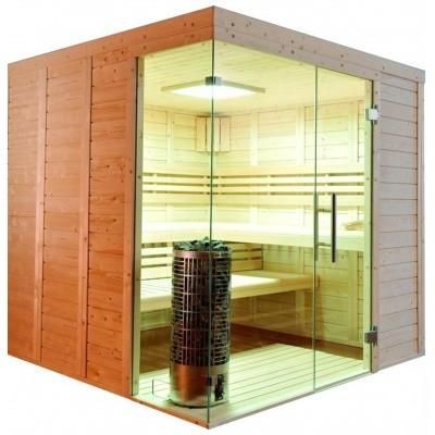 Hoofdafbeelding van Azalp Sauna Luja 240x240 cm, 45 mm