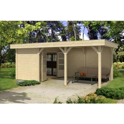 Hoofdafbeelding van Outdoor Life Products Living 6030/20 (extra) Blokhut A, Geïmpregneerd