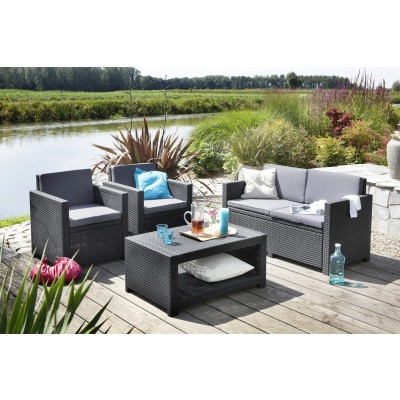 Foto van Allibert Monaco Lounge Set Graphite