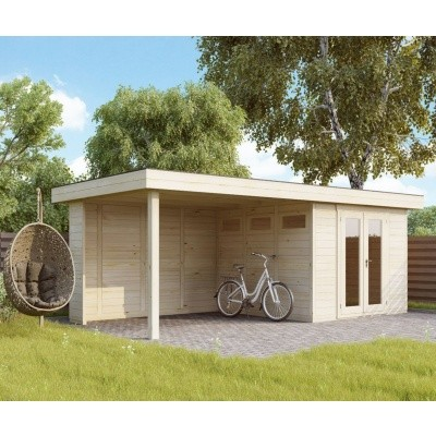 Hauptbild von Azalp Blockhaus Maximo 500x200 cm, 45 mm