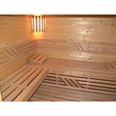 Foto van Azalp saunabank recht, Elzen breedte 80 cm