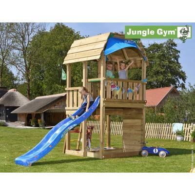 Foto van Jungle Gym Barn met Glijbaan