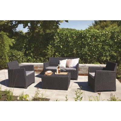 Foto van Allibert Corona Lounge Set Graphite