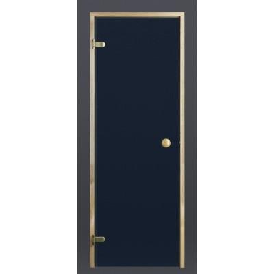 Foto van Ilogreen Saunadeur Trend (Elzen) 189x79 cm, blauwglas