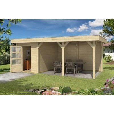 Hoofdafbeelding van Outdoor Life Products Living 6030/20 (extra) Blokhut B, Geïmpregneerd