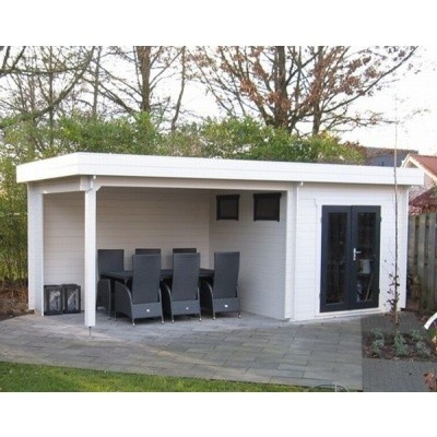 Foto von Azalp Blockhaus Joris 500x250 cm, 30 mm
