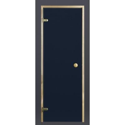 Hoofdafbeelding van Ilogreen Saunadeur Trend (Elzen) 199x69 cm, blauwglas