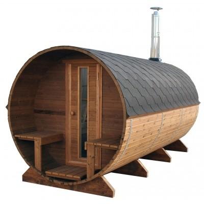 Hoofdafbeelding van Azalp Buitensauna Barrel 207x440 cm in 45 mm