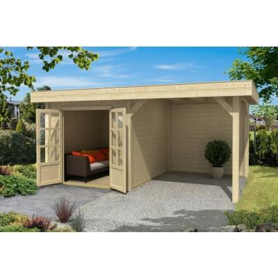 Hoofdafbeelding van Outdoor Life Products Living 6030 (extra) Blokhut A, Geïmpregneerd