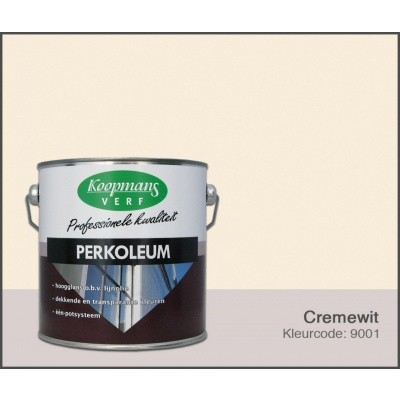 Foto van Koopmans Perkoleum, Crèmewit 9001, 2,5L zijdeglans