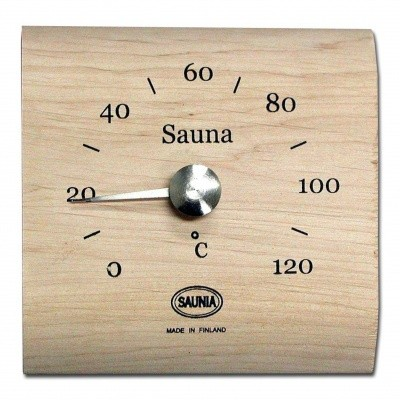 Foto van Saunia Thermometer vierkant Elzen
