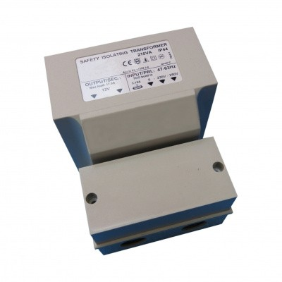 Hoofdafbeelding van Azalp veiligheidstransformator maximaal 210 watt - IP 44