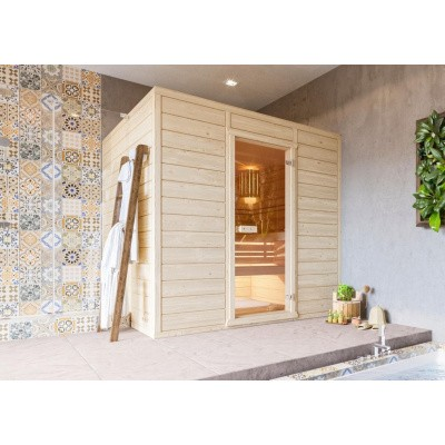 Hoofdafbeelding van Azalp Massieve sauna Eva 210x220 cm, 45 mm