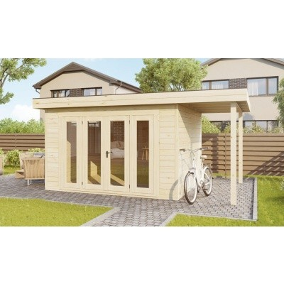 Hauptbild von SmartShed Blockhaus Isidro 450x450 cm, 45 mm