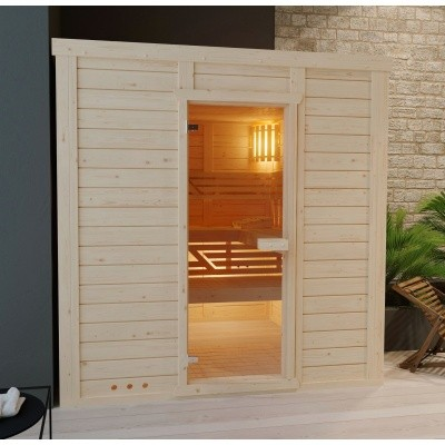Hoofdafbeelding van Azalp Massieve sauna Genio 240x240 cm, 45 mm