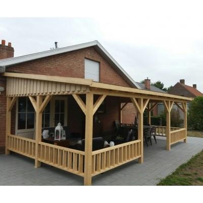 Foto van Azalp Houten veranda 500x400 cm