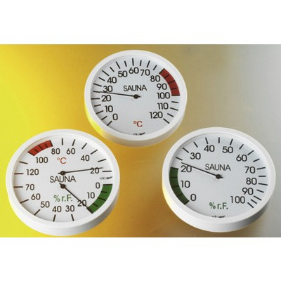 Foto van Hot Orange Thermo-hygrometer Wit
