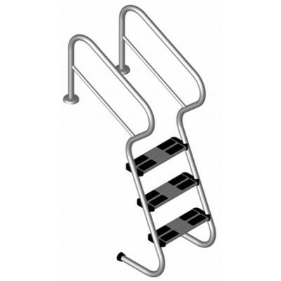 Foto van Ideal Easy Access met 3 treden - Edelstahl V2A