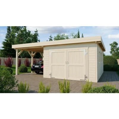 Hoofdafbeelding van Azalp Houten Garage Cidro 641x780 cm, 60 mm