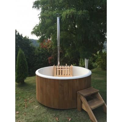 Hoofdafbeelding van Interflex Hottub Relax met kunststof kuip - Diameter 185cm