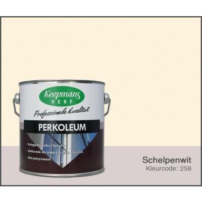 Foto van Koopmans Perkoleum, Schelpenwit 258, 2,5L Hoogglans