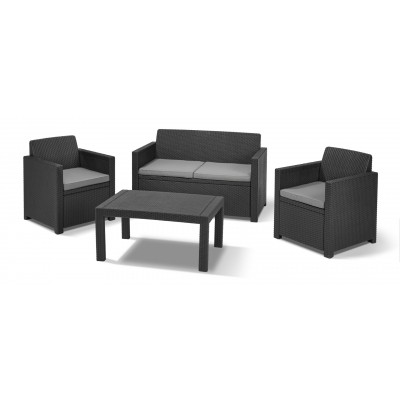 Foto van Allibert Merano Lounge Set Graphite