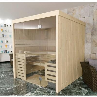 Hoofdafbeelding van Azalp massieve sauna Rio Glass 195x195 cm, 39 mm