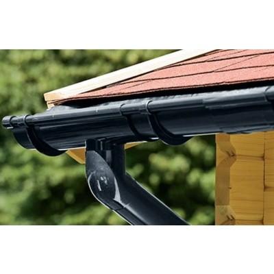 Hoofdafbeelding van Azalp Dakgootset Zadeldak DELUXE 340 cm, Zwart