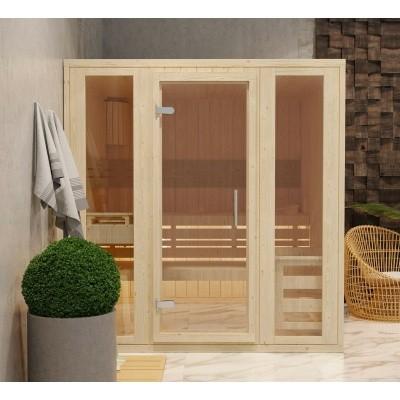 Hoofdafbeelding van Azalp Massieve sauna Rio Optic 217x217 cm, 39 mm